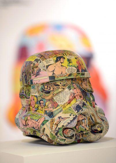 Stormtrooper helmet by artist Agnetha Sjögren