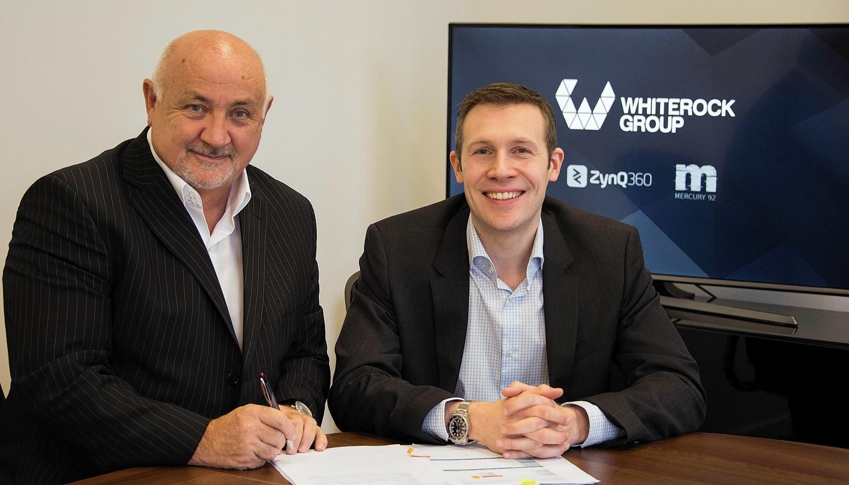 Brian Dillon, managing director of Whiterock Group, and Ewan MacKinnon of Maven Partners