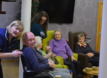 Inverurie Merlin Scout group paid a visit to Bennachie View Care home, Inverurie