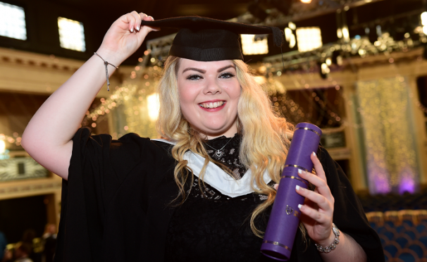 Nicola Brown from Fraserburgh was one of the hundreds of RGU graduates