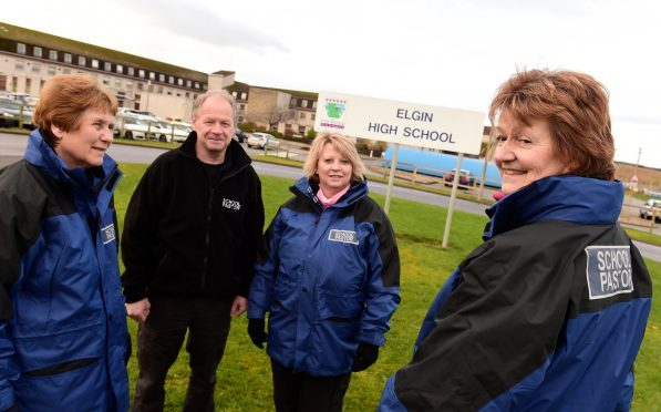 School pastors who are operating at Elgin High School L-R Pat Paterson, Ian Ross, Sandra Watson and Rosemary Young.