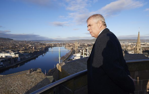 Prince Andrew at the North Tower of Inverness Castle