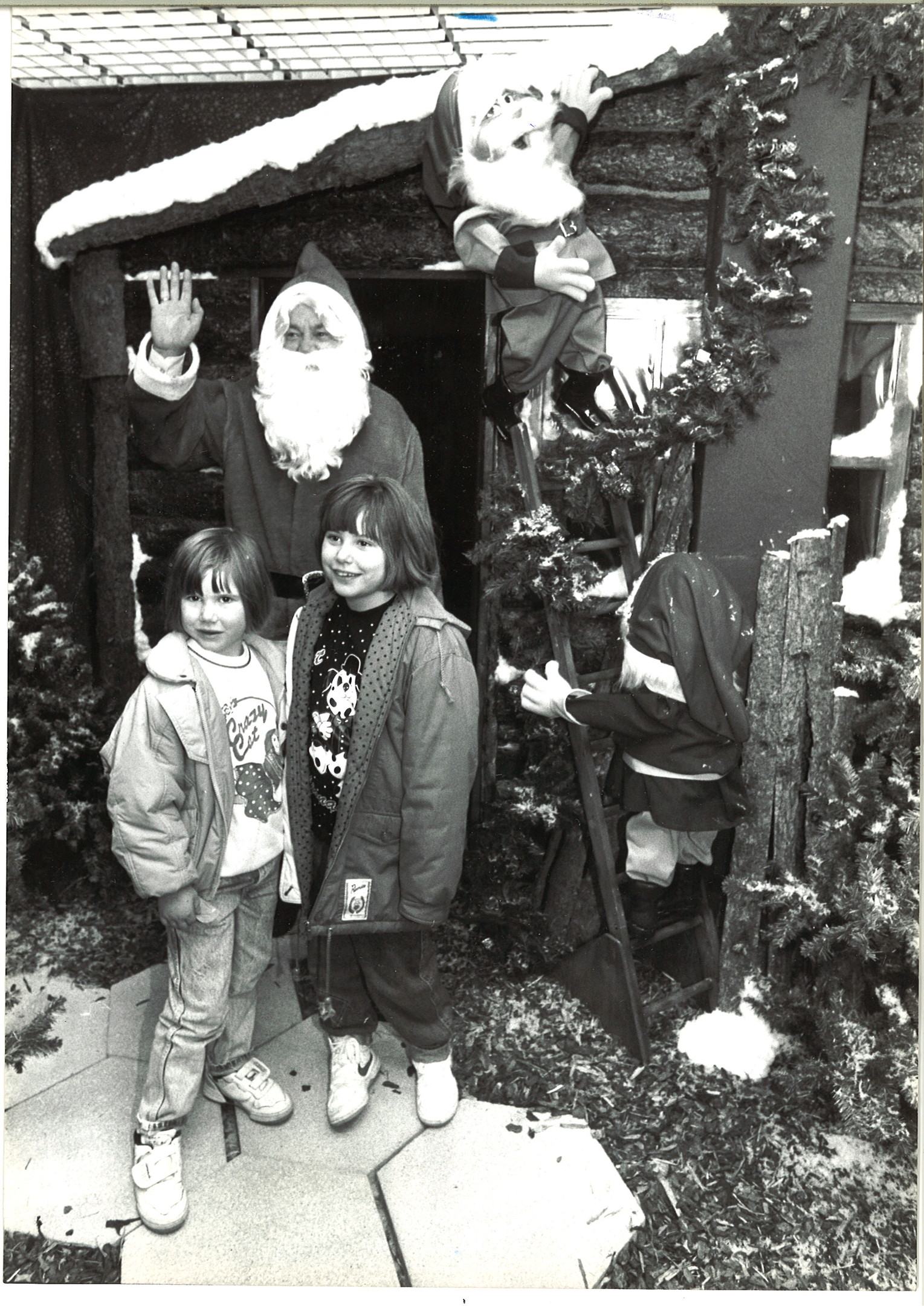 Green sisters Dianna and Lorna with the main man in 1989