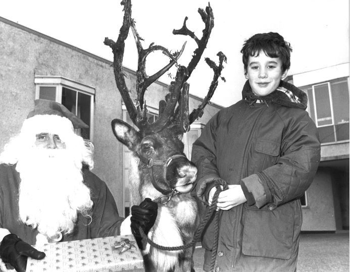 Christopher Bryson of Cauldeen Primary School, Inverness made some festive friends out of Santa and best friend Rudolph. The two were making a pre-Christmas delivery for Porterfield Prison Officers charity fund which donated computer equipment to the school in 1990.