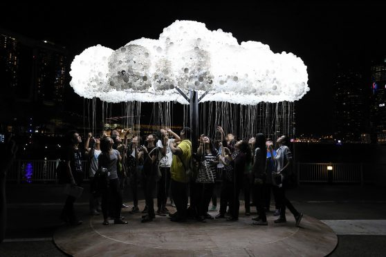 Spectra, Scotland's biggest urban light festival, attracted more than 35,000 visitors to the Granite City in