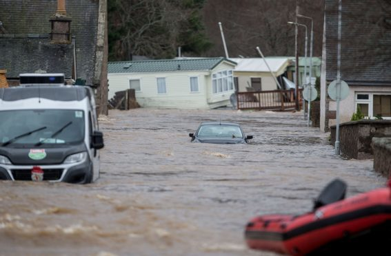 Ballater after Storm Frank hit