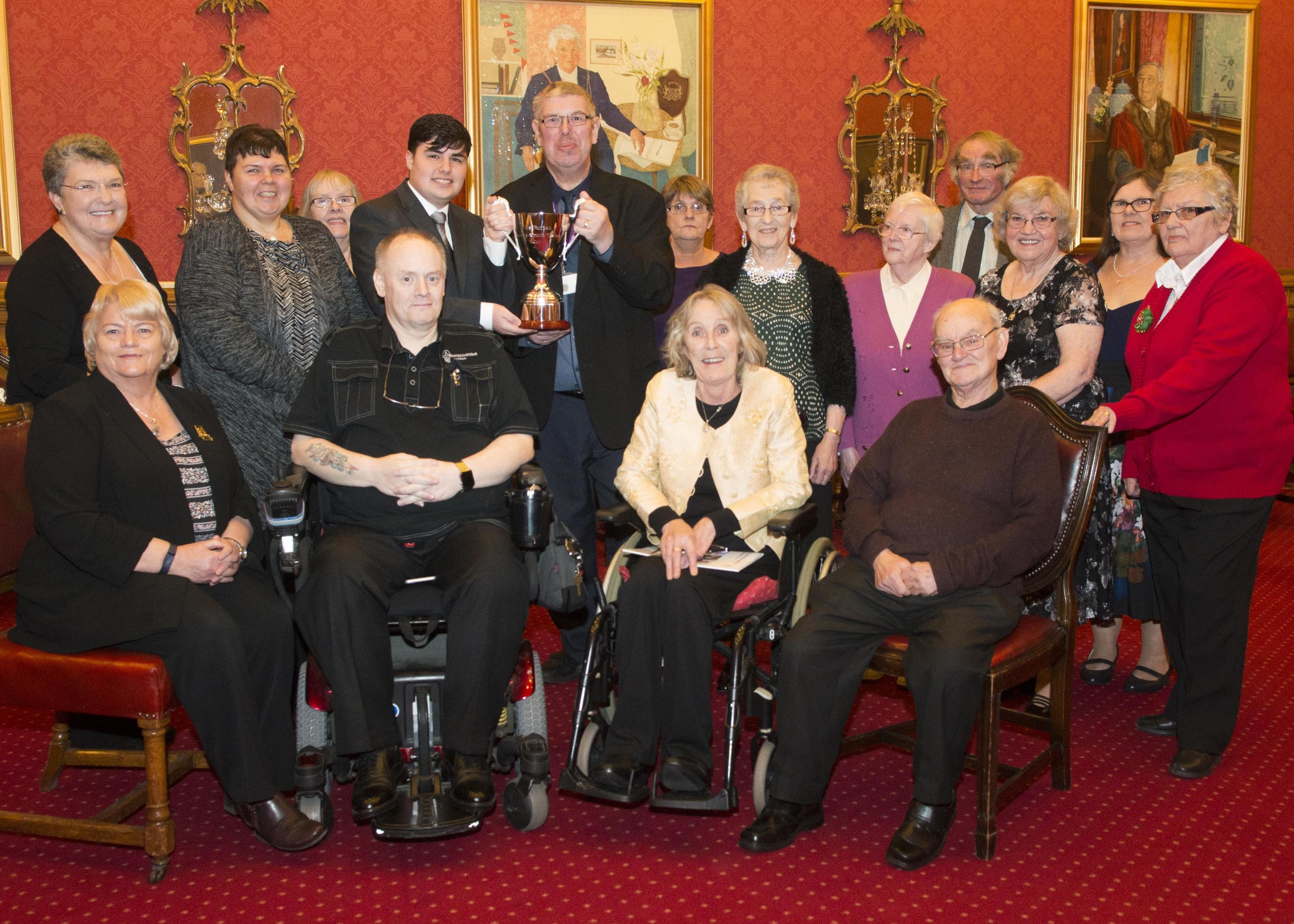 """The local authority awarded the inaugural Rita Buchan champion cup to the housing service review group for their """"outstanding contribution to tenant participation"""""""