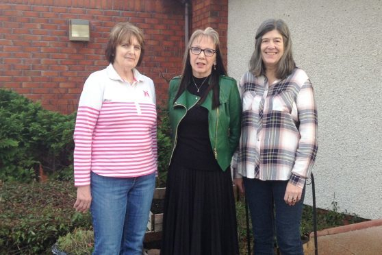 Esther Brown (Engaging with Activity), Lindsey Tennent Beachview Lodge support service manager, and Rhona Walker (NHS Highland Social Work Service).
