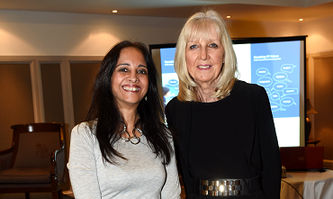 Emma Fossey and Audrey Mooney attending the 'Speaking Of Values' Publication Discussion Evening held at the Marcliffe Hotel.   Picture by KEVIN EMSLIE