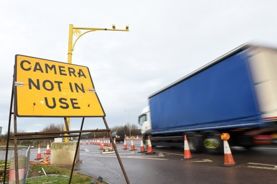 Average speed cameras go live on A90 at Charleston flyover.