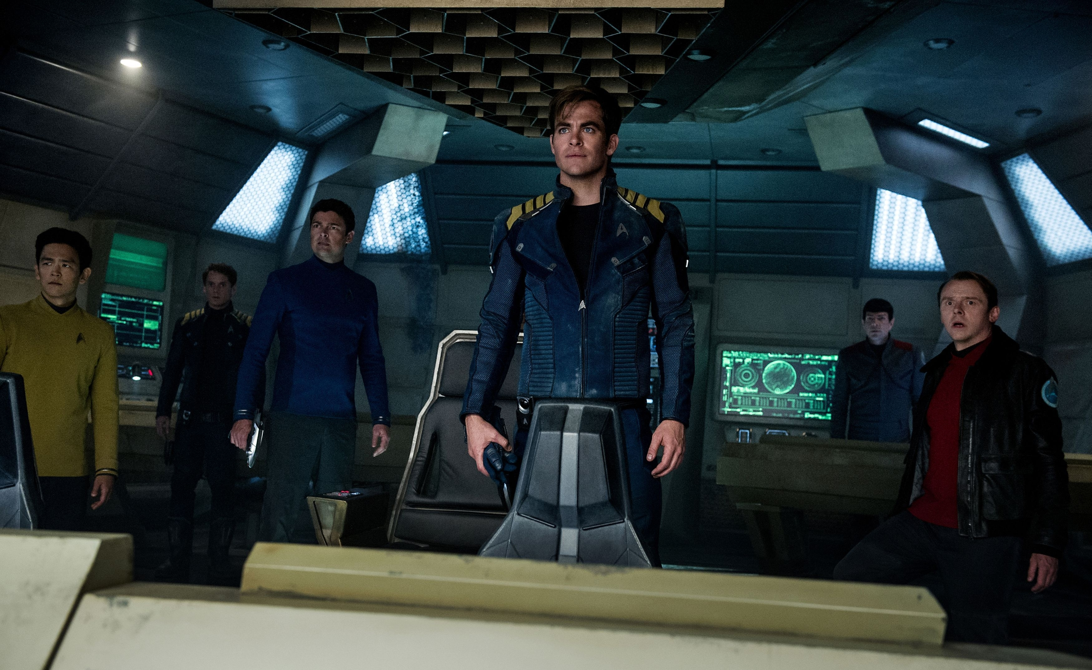 Chris Pine plays Captain Kirk in the new franchise