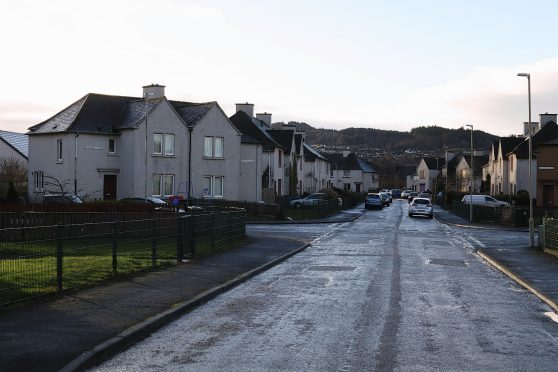 Craigton Avenue in Inverness where a man was found seriously injured
