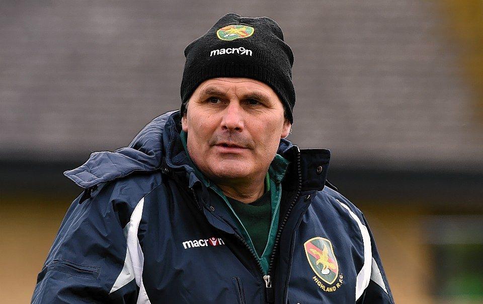 Highland head coach Davie Carson.