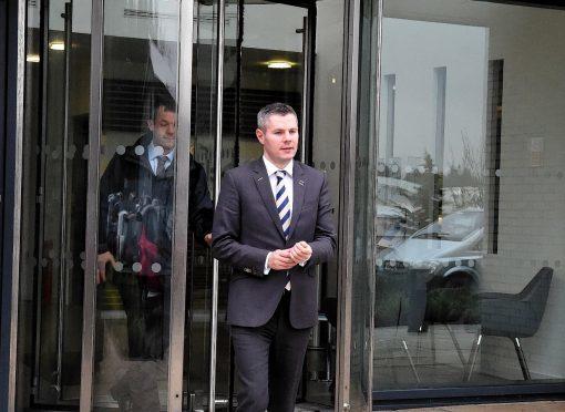 Derek Mackay during a recent visit to Aberdeen