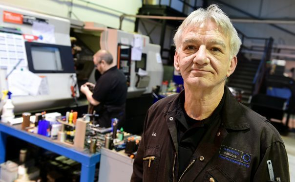 Eric Steele, Director, Precision Oil Tools Ltd, Kintore, in the workshop.