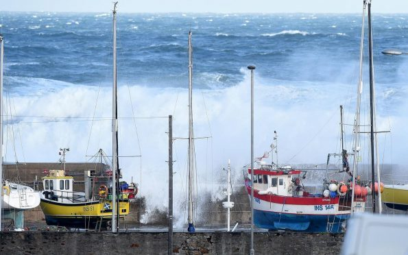 The Moray coast was buffeted by strong winds yesterday.