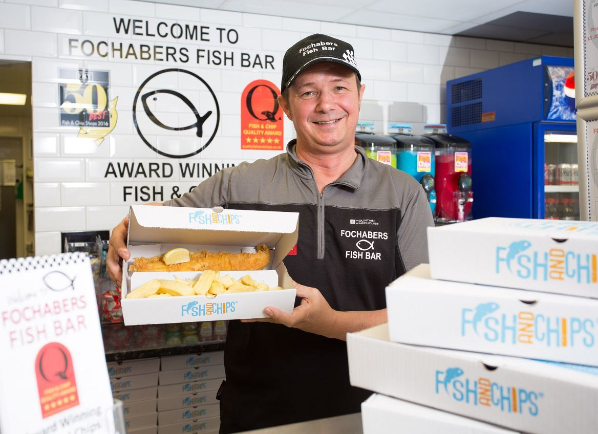 Fochabers Fish Bar owner Darren Boothroyd is proud to be named in the UK's top 10 chippies.