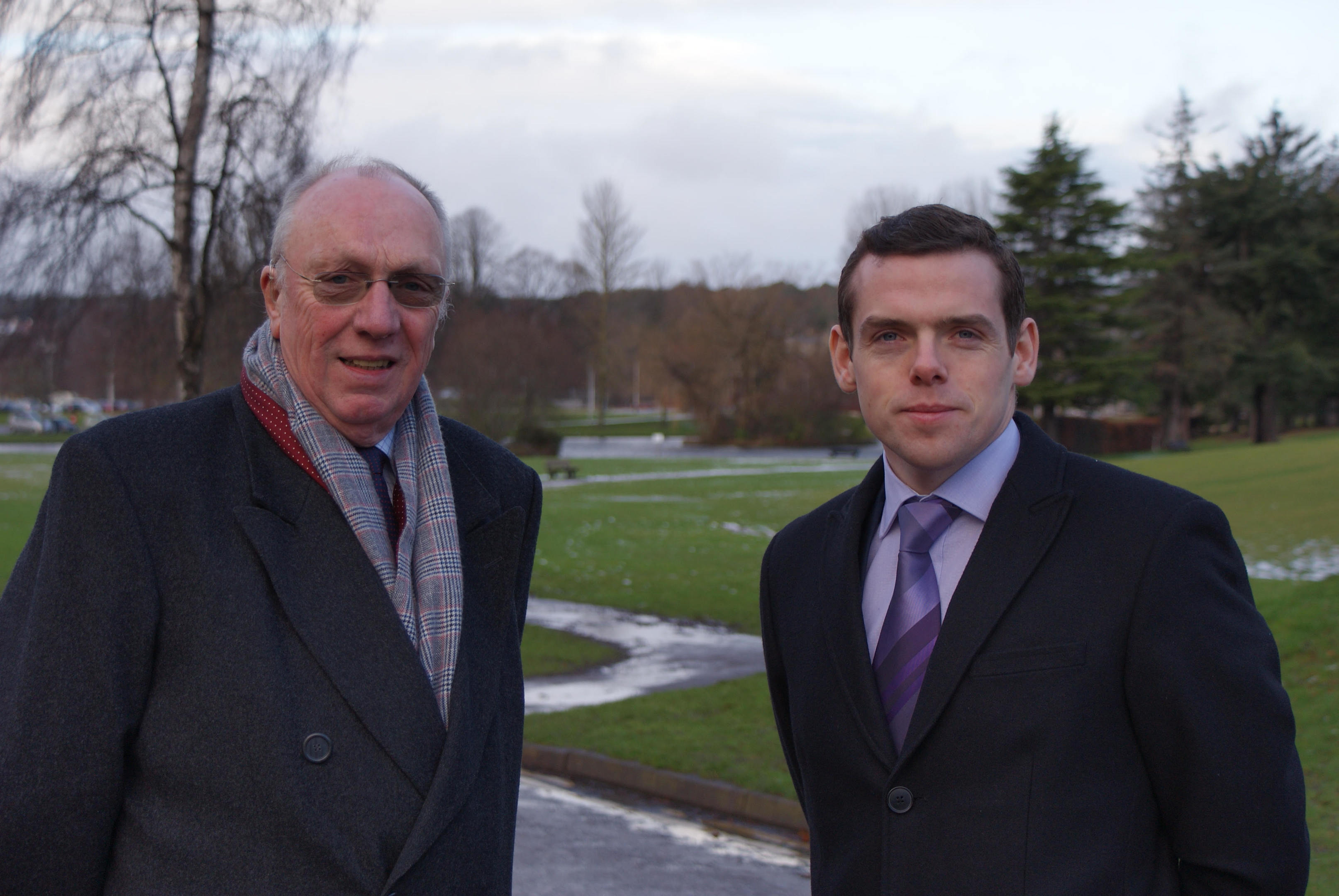 Highlands and MSP Douglas Ross, pictured right, has praised the experience of Elgin City North candidate Frank Brown.