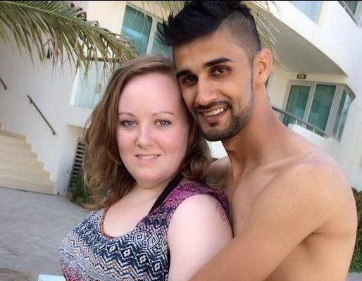 Hannah James with her husband Jassim Alhaddar