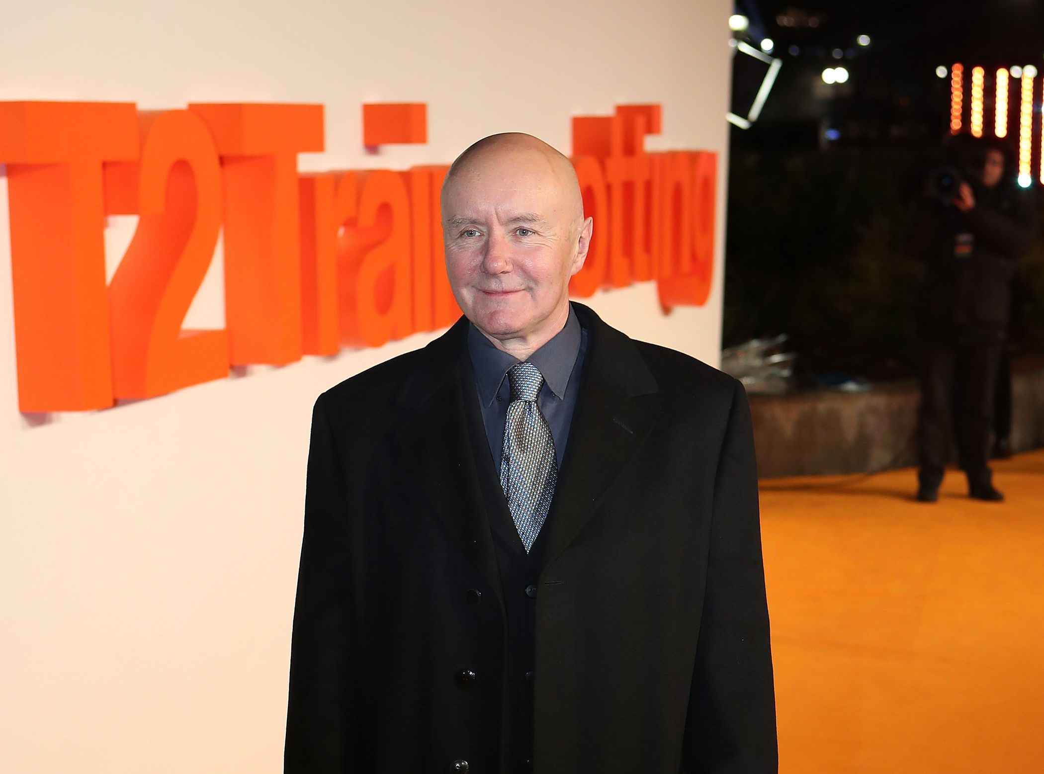 Irvine Welsh arriving at the world premiere of Trainspotting 2