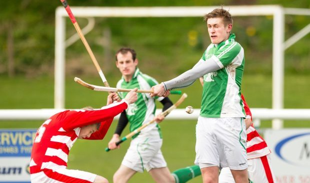Lochaber's Jack Dignan in action