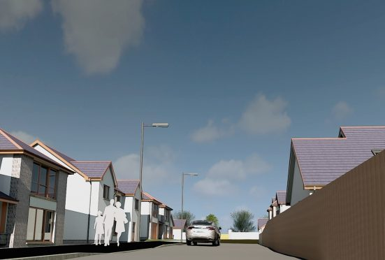 A design of Kirkton Heights in Fraserburgh