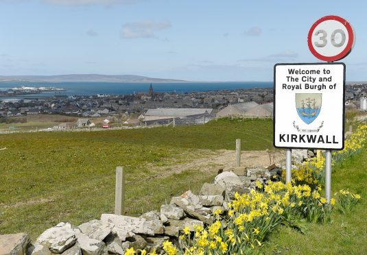 The Orkney capital Kirkwall