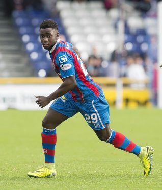 Larnell Cole was sent off for Inverness.