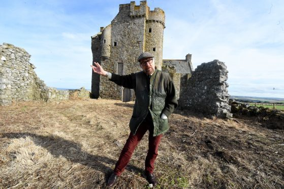 Marc at Inchdrewer Castle, which he is restoring for Russian princess Olga Roh. Pictures by Jim Irvine.
