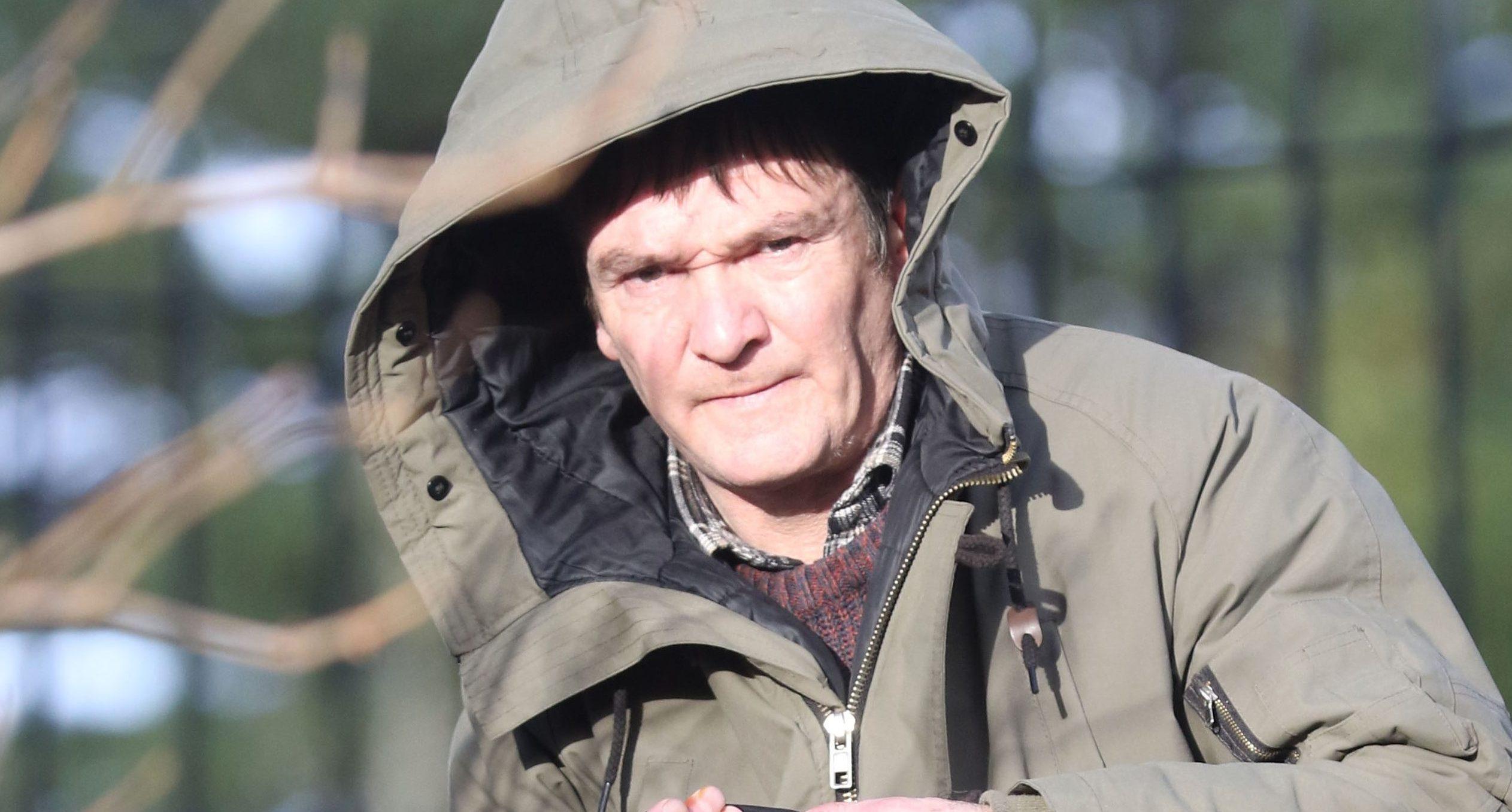 Mark Handlin leaving Inverness Sheriff Court,