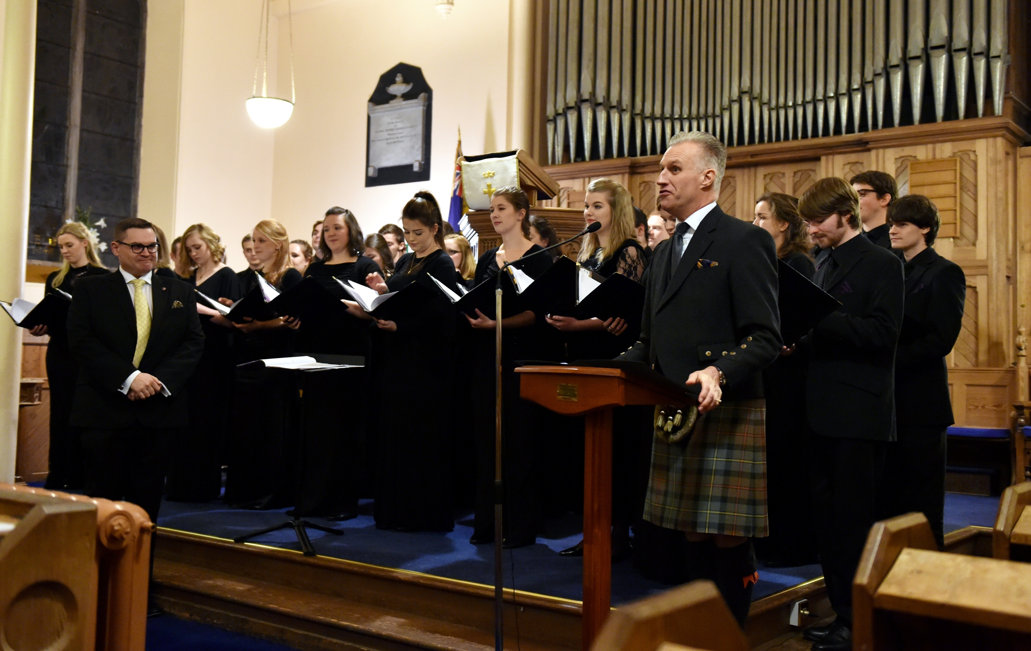 The Prince Charles, Duke of Rothesay and The Dutchess of Rothesay, attended a performance of Robert Burns poetry with music by Professor Paul Mealor and the Aberdeen University Chamber Choir last week
