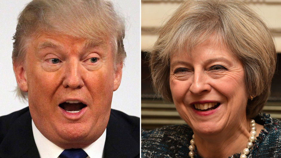 Donald Trump and Theresa May will discuss issues including trade at White House talks on Friday.
