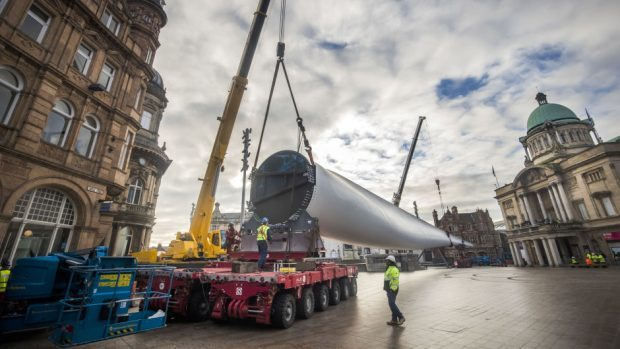 Turbine components for Dorenell Wind Farm south of Dufftown will start arriving on site in the week beginning Wednesday May 9.