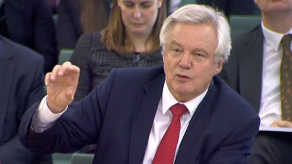 """Brexit Secretary David Davis is """"very determined' to agree a divorce deal with Brussels and a new trading relationship within two years"""