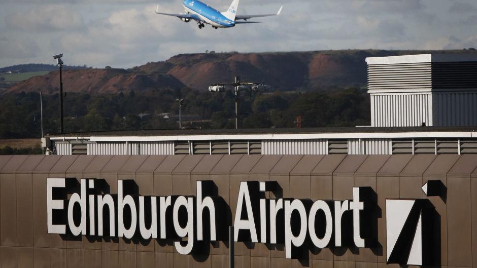 Edinburgh Airport has been plunged into darkness