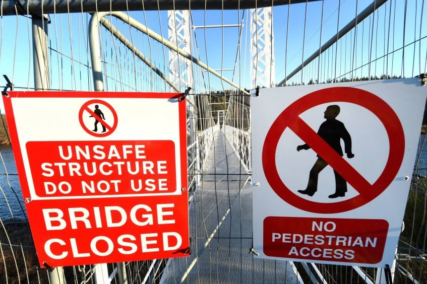 The Bridge was closed as a result of severe damage