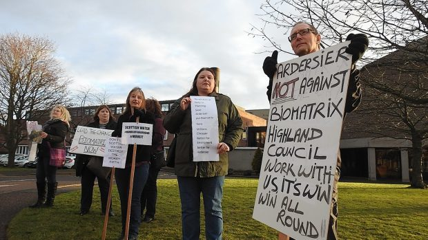 Ardersier campaigners take their fight to council HQ.