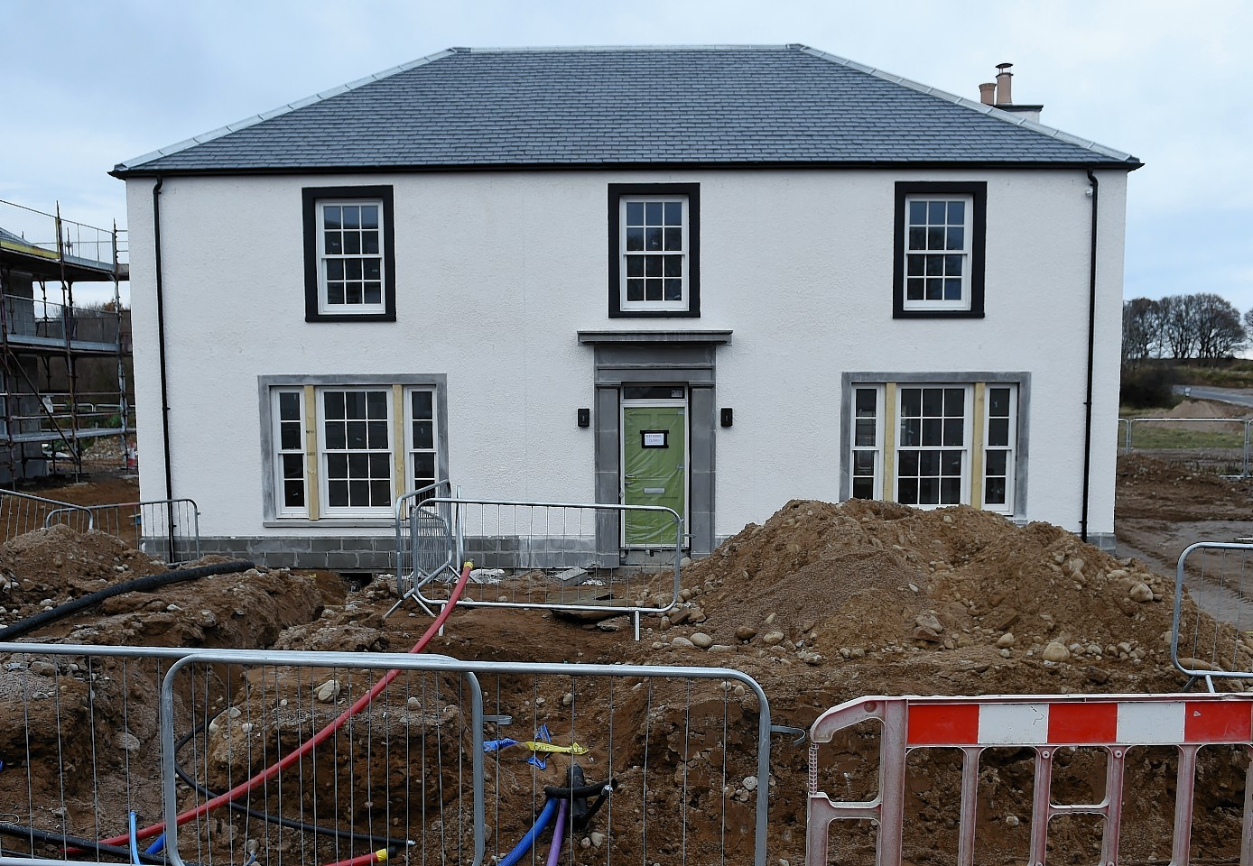 The housing development at Tornagrain continues with some of the houses nearing completion.