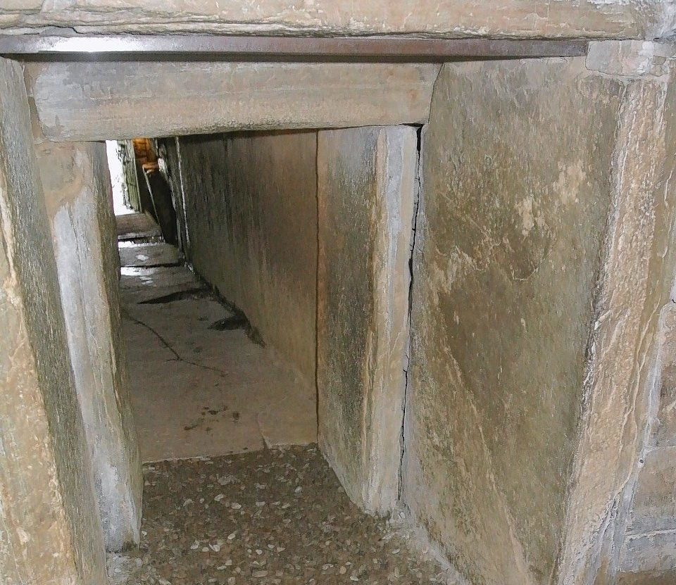 The tunnel (pictured from inside) to the tomb at Maeshowe Chambered Cairn, Orkney. March 2012  Picture by David Bradley