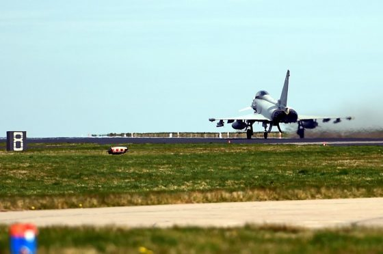 Typhoons from 6 Sqn will be in Las Vegas for five weeks before other crews from Moray replace them.