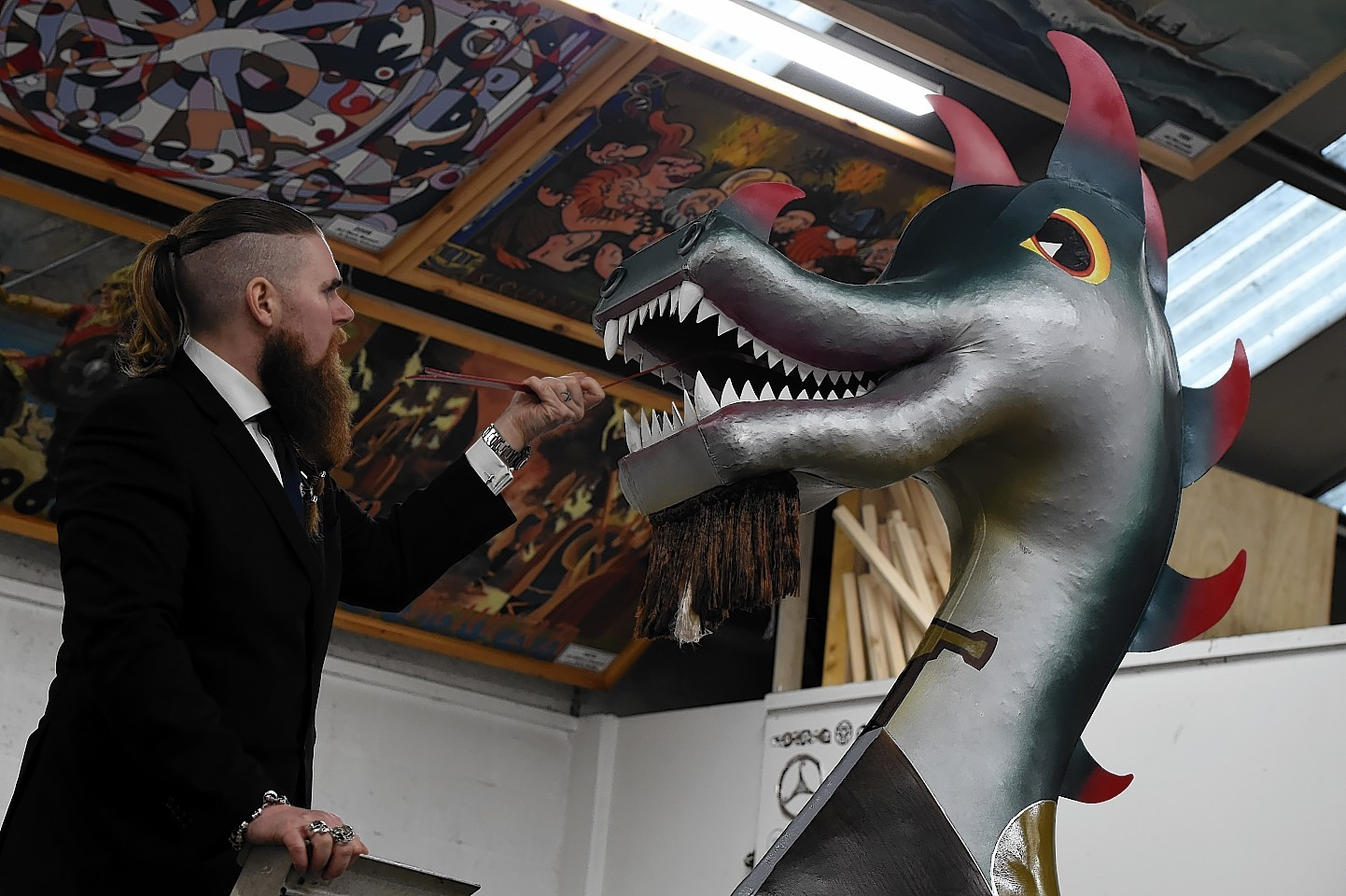 Brydon Wright installing the tongue. Pictures and video by Kenny Elrick