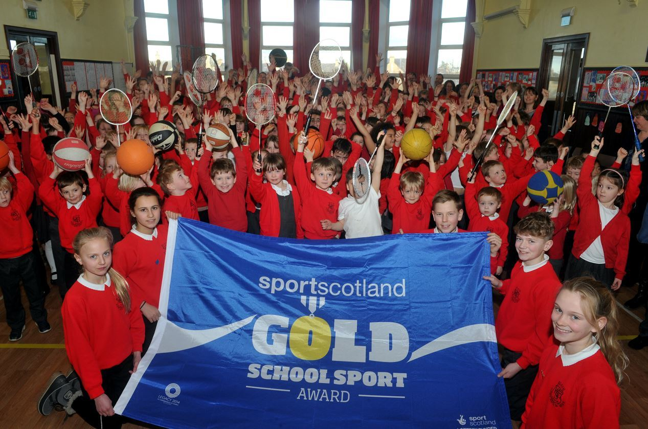 West End Primary School is the first primary school in Moray to win Sport Scotland's school sport gold award.