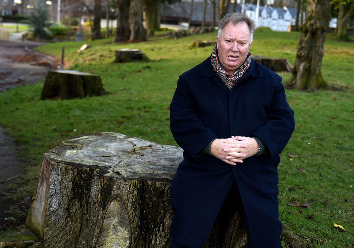 Councillor Bill Cormie in Westburn Park