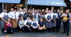 Mr Oliver visited the staff at the Aberdeen restaurant in 2015