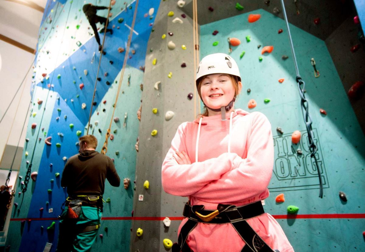 Laura Campbell, 12, raised £550 to give her fellow diabetics a rock climbing treat.