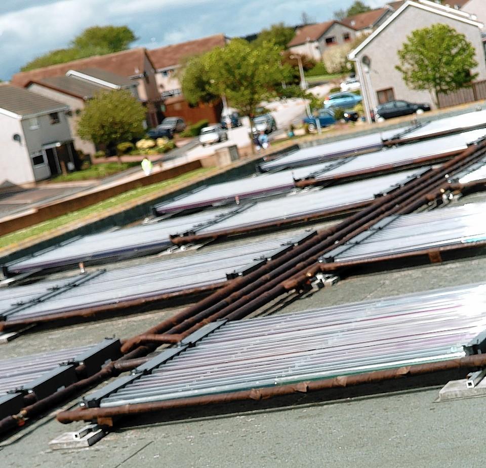 Solar panels at Bridge of Don Academy