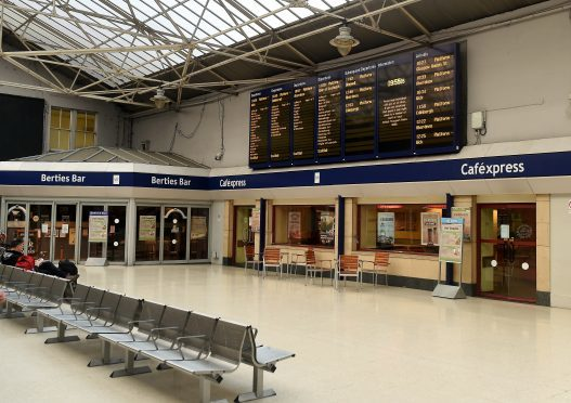 Inverness Station concourse.