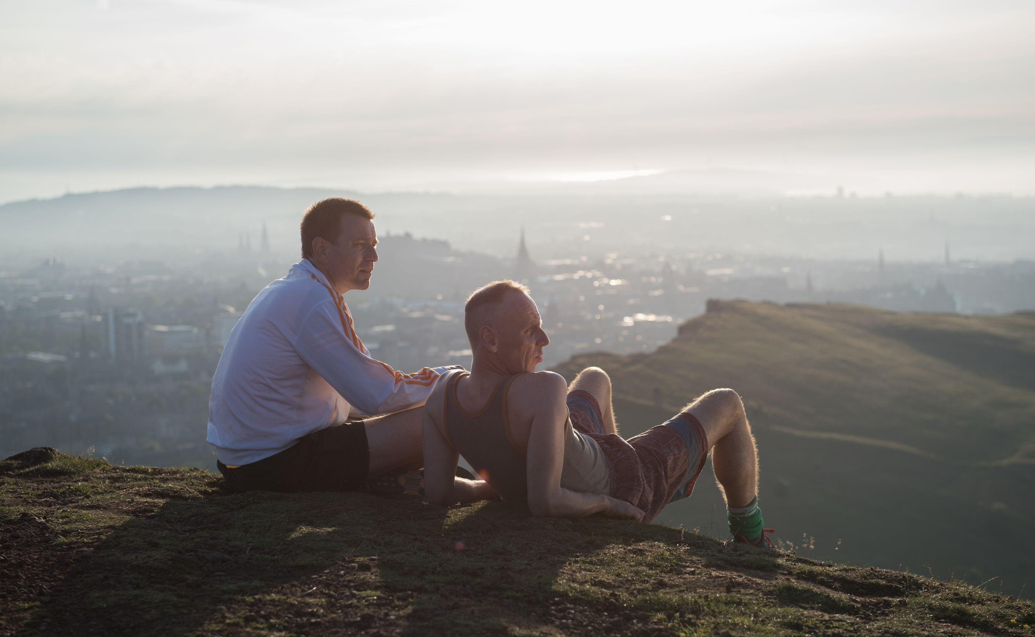 Pictured: Ewan McGregor as Mark 'Rent Boy' Renton and Ewen Bremner as Daniel 'Spud' Murphy.