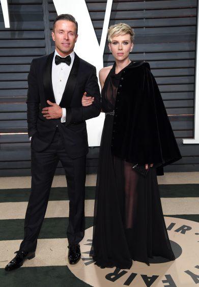 Scarlett Johansson and Joe Machota. Photo credit: PA/PA Wire