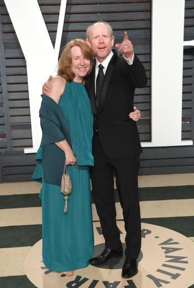 Ron Howard and Cheryl Howard. Photo credit: PA/PA Wire
